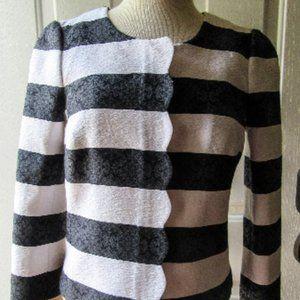 Banana Republic Striped, Scalloped NWT Med. Jacket